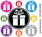 vector set of colorful gift box ... | Shutterstock .eps vector #101681608