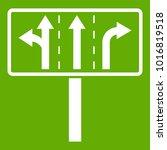 traffic lanes at crossroads...   Shutterstock .eps vector #1016819518