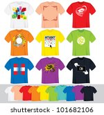 t shirts vector collection.... | Shutterstock .eps vector #101682106
