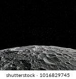 moon surface. realistic 3d... | Shutterstock . vector #1016829745
