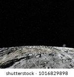 moon surface. realistic 3d... | Shutterstock . vector #1016829898