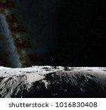 moon surface. realistic 3d... | Shutterstock . vector #1016830408