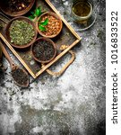 fragrant chinese tea. on a... | Shutterstock . vector #1016833522