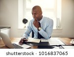 young african business... | Shutterstock . vector #1016837065