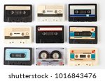 vintage audio cassette tape | Shutterstock . vector #1016843476