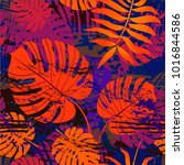 colorful vector tropical ... | Shutterstock .eps vector #1016844586
