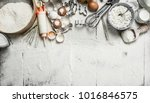 baking background. tools and... | Shutterstock . vector #1016846575