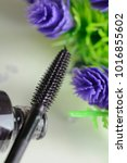 brush of black mascara with... | Shutterstock . vector #1016855602
