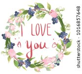 i love you. lettering on the... | Shutterstock .eps vector #1016857648