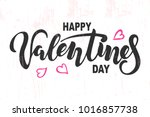 happy valentines day text... | Shutterstock .eps vector #1016857738