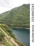 montenegro lake piva mountains   Shutterstock . vector #1016865265