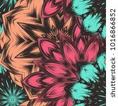 seamless floral background.... | Shutterstock .eps vector #1016866852