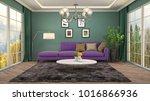 interior living room. 3d... | Shutterstock . vector #1016866936