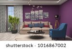 interior living room. 3d... | Shutterstock . vector #1016867002