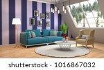 interior living room. 3d... | Shutterstock . vector #1016867032