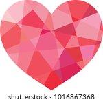 vector geometric heart  low...   Shutterstock .eps vector #1016867368
