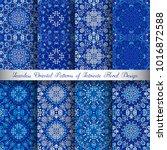 vector arabesque patterns set.... | Shutterstock .eps vector #1016872588