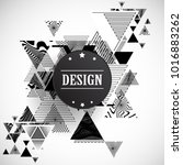 vector hipster triangle... | Shutterstock .eps vector #1016883262