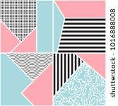 seamless geometric pattern.... | Shutterstock .eps vector #1016888008