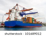 container ship | Shutterstock . vector #101689012