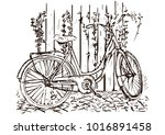 bicycle hand drawing  sketch ...   Shutterstock .eps vector #1016891458