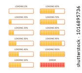 loading bars elements set.... | Shutterstock .eps vector #1016895736