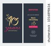 10 years anniversary invitation ...   Shutterstock .eps vector #1016898616