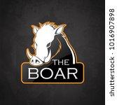 Boar On A Dark Background....