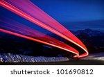 Night Traffic Light On A Highway