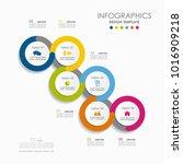 infographic template. vector... | Shutterstock .eps vector #1016909218