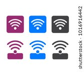 wireless and wifi icons.... | Shutterstock . vector #1016916442