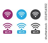 wireless and wifi icons.... | Shutterstock . vector #1016916502