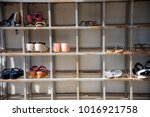 shoes rack  shoes shelf made... | Shutterstock . vector #1016921758