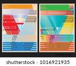 oblique  diagonal lines pattern. | Shutterstock .eps vector #1016921935