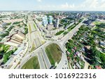 aerial city view with... | Shutterstock . vector #1016922316