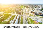 aerial city view with... | Shutterstock . vector #1016922322