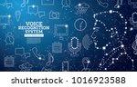voice recognition assistance... | Shutterstock .eps vector #1016923588