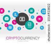 cryptocurrency creative concept ... | Shutterstock .eps vector #1016923822