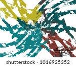 grunge color stripes. overlay... | Shutterstock .eps vector #1016925352