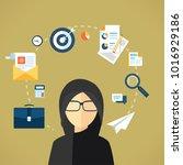 arab business lady  | Shutterstock .eps vector #1016929186