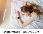 portrait of young woman with...   Shutterstock . vector #1016932675