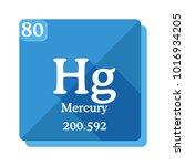 mercury  hg  chemical element...   Shutterstock .eps vector #1016934205
