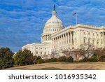 the united states capitol... | Shutterstock . vector #1016935342