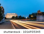 lincoln memorial at night. seen ... | Shutterstock . vector #1016935345