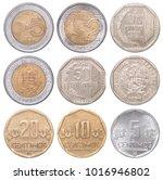 full set of peruvian coins...   Shutterstock . vector #1016946802