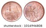 10 czech koruna with the image... | Shutterstock . vector #1016946808