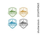 colour mountain logo vector | Shutterstock .eps vector #1016954065