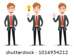 business man with blond hair ... | Shutterstock .eps vector #1016954212