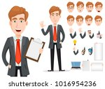 business man with blond hair ... | Shutterstock .eps vector #1016954236
