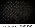 black metal background or black ...   Shutterstock . vector #1016954545